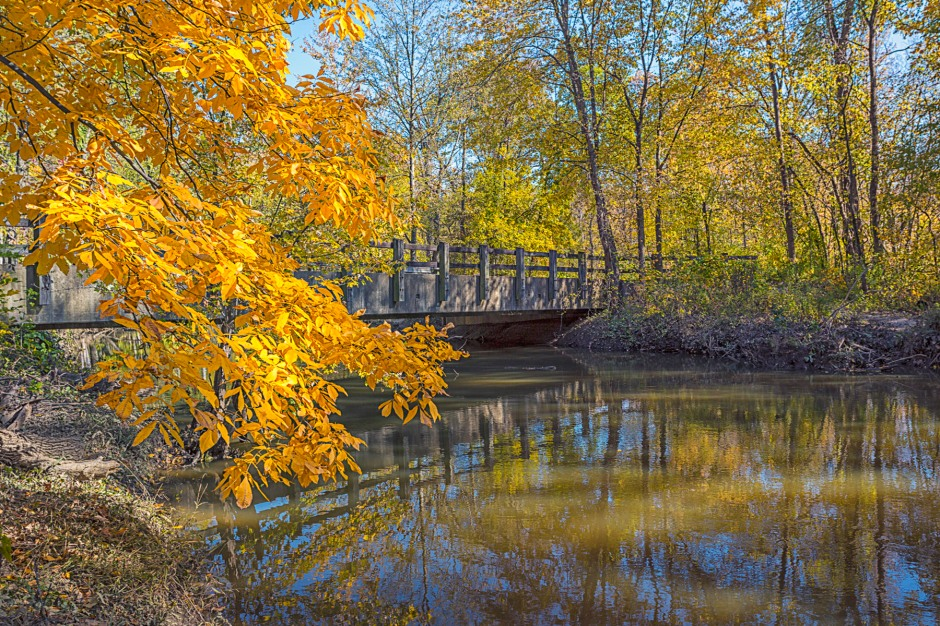 Bailly Bridge in Autumn