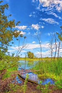 Boat at Edge of Marsh