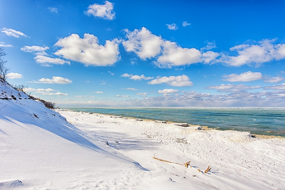 Central Beach After Snow