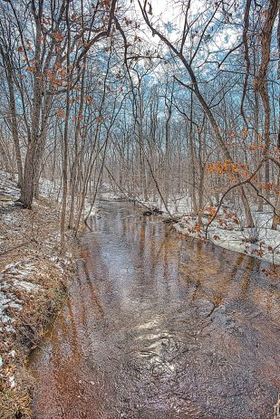 Creek Current During March Snowmelt