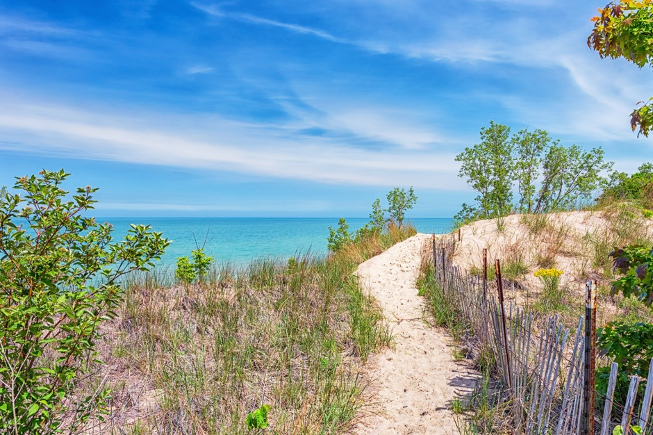 Dune Ridge Trail Above Lake Michigan