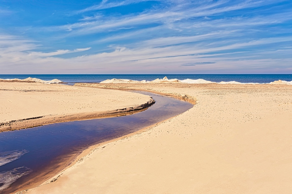 Dunes Creek Meets Lake Michigan