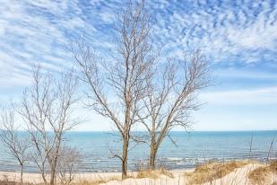 Early April at Lake Michigan