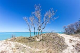 Late April Above Lake Michigan
