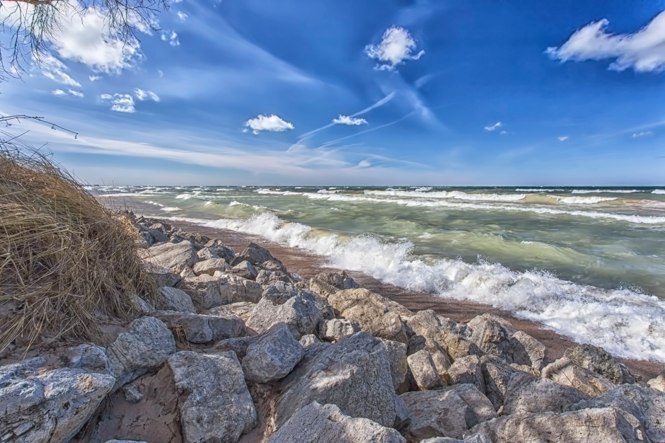 March Winds at Lake Michigan