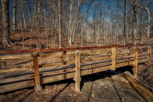 New Trail Bridge in April