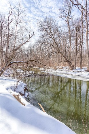 River Thaw in March