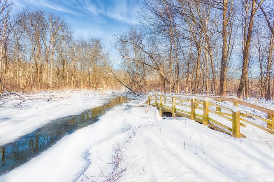 River Trail Bridge in Winter