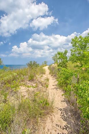 Trail Above Lake Michigan