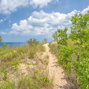 Trail Above Lake Michigan