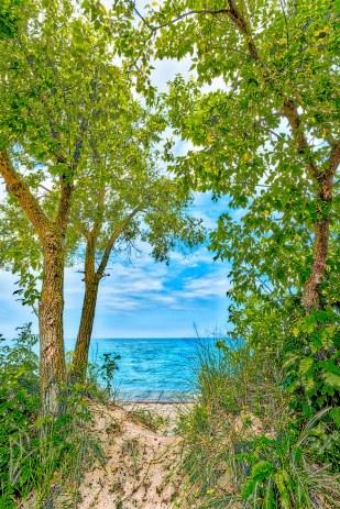 Trail End at Beach