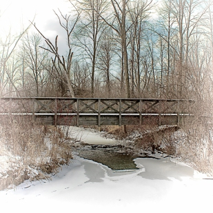 Bridge After Overnight Snow