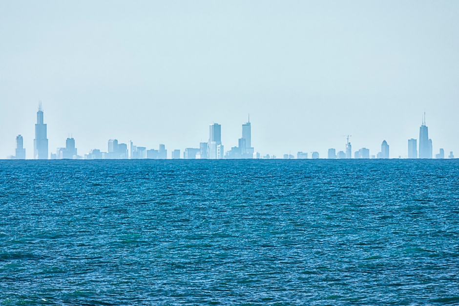 Chicago Skyline in Mid-December