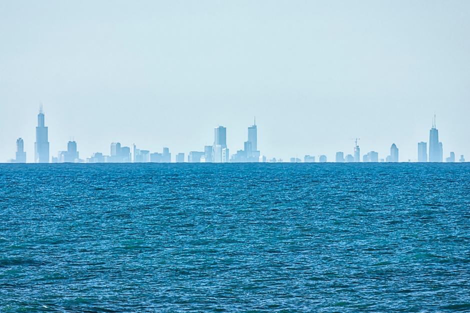Chicago Skyline in Mid-December