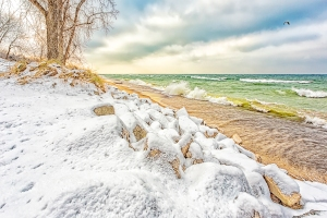 Lake Shore After Overnight Snow