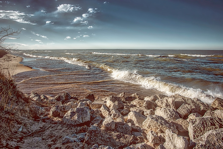 Late Afternoon Light at Lake Michigan