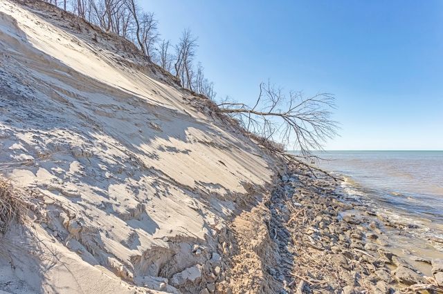 Central Beach Washed Away by Winter Weather