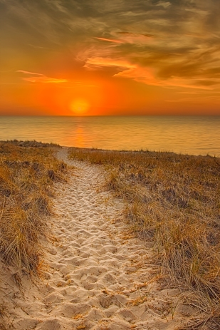 Sunset Beyond Dunbar Beach