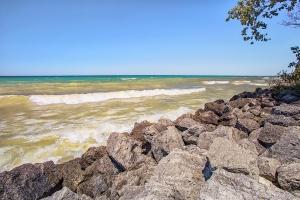 Clear Sky Above Lake Michigan