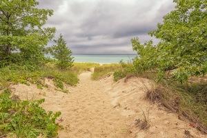 Trail Ten Toward Shore and Approaching Storm