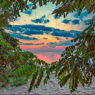 Beach Sunset sq