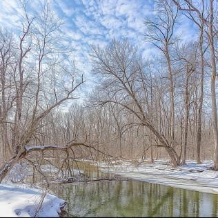 River in Winter sq