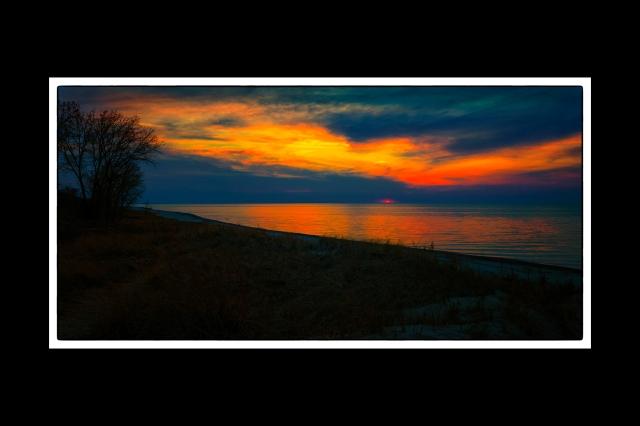 Sunset at Dunbar Beach Pano2 4x6